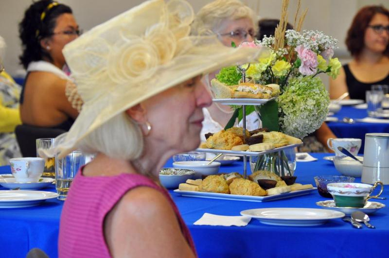 Mind your manners tea party hat and scones 2016